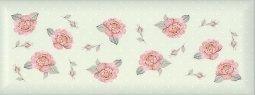 Плитка для стен Kerama Marazzi Веджвуд Цветы 15034 15х40 зеленый грань