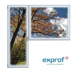 Балконный блок ПВХ Exprof 2100х2100 мм 1-Г 1 стеклопакет