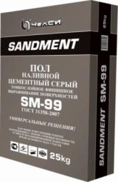 Наливной пол ЧелСи цементный серый SANDMENT SM-99 25 кг