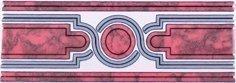 Бордюр Сокол Уральские самоцветы 339 орнамент глянцевый 7х20