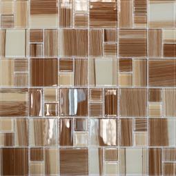 Мозаика Elada Crystal JSM-CH1019 бежевая полосатая mix size 32.7x32.7