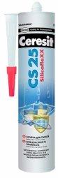Затирка-герметик Ceresit СS 25 силиконовая с усиленным противогрибковым эффектом серый (280мл)