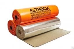Базальтовый утеплитель Тизол МБОР-Ф 5 фольгированный ширина 1.5 м 10м2 в рулоне