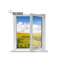 Окно ПВХ Rehau 600х600 мм одностворчатое ПО 1 стекло