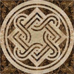 Панно Kerranova Eterna полированный коричневый 120x120