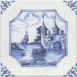 Декор Kerama Marazzi Английский Делфт Крепость 5221\3F 20х20