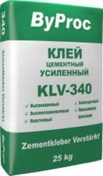 Клей ByProc KLK-340 усиленный 25 кг