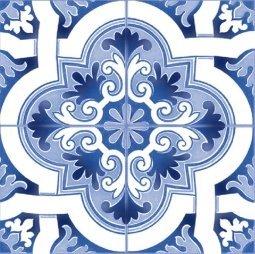 Плитка для стен Сокол Катарина KR4 орнамент полуматовая 22х22