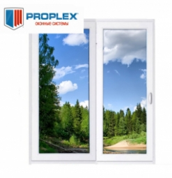 Окно раздвижное PROPLEX 2100x2000 двухстворчатое ПР800/ЛГ1200 3 стеклопакет