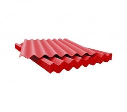 Шифер кровельный 7-волновой 1750х980х5.8мм, красный