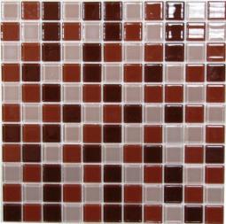 Мозаика Bonаparte Brown mix коричневая глянцевая 30x30