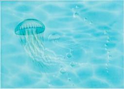 Декор Береза-керамика Лазурь медуза бирюзовый 25х35