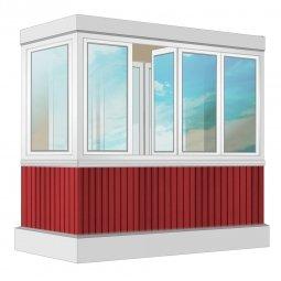 Остекление балкона ПВХ Rehau с отделкой ПВХ-панелями с утеплением 2.4 м Г-образное
