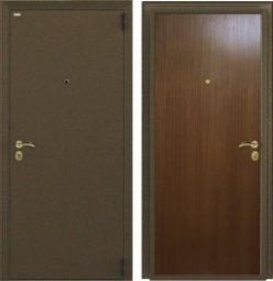 Стальная дверь Гардиан Фактор К медный антик/темный орех правая замок Г1211  980x2050 мм