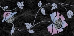 Декор Нефрит-керамика Болеро 04-01-1-10-03-65-122-1 50x25 Чёрный