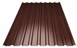 Профнастил С-21 (RAL 8017) коричневый шоколад 1000х2000х0.5