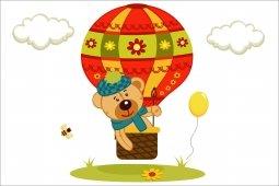 Декор Пиастрелла Радуга Мишка на шарике 20х30