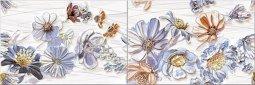 Панно Azori Dream Blue Floret (комплект 2 шт.) 20x60