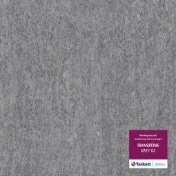 Линолеум коммерческий гетерогенный Tarkett Travertine Grey 02 4 м рулон