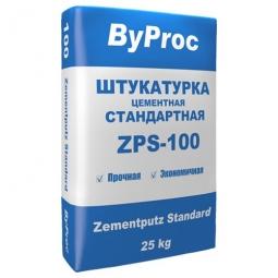 Штукатурка ByProc ZPS-100 стандартная цементная 25 кг