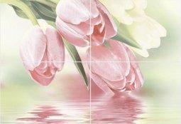 Панно Уралкерамика Рефлекс тюльпаны ПН7РТ2 72.8x49.8