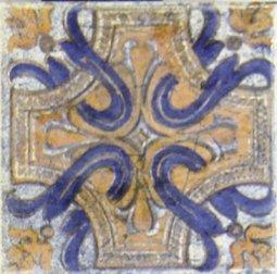Вставка Сокол Майолика D707-2 орнамент матовая 8х8