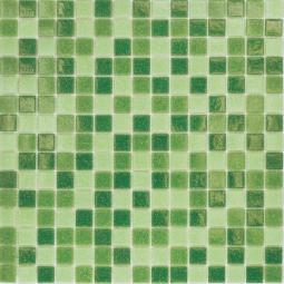 Мозаика Elada Econom на сетке MC109 зеленый микс 32.7x32.7