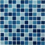 Мозаика Bonаparte Sea wave-1 голубая глянцевая 30x30