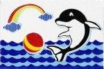 Декор Пиастрелла Радуга Дельфин 20х30