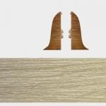 Заглушка левая и правая Т-Пласт 129 Ясень Рустик 58мм (2шт)