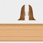 Заглушка левая и правая Т-Пласт 001 Дуб Светлый 58мм (2шт)