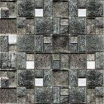 Мозаика Elada Crystal+Stone JSM-JB064 серебро жатая 32.7x32.7