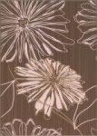 Декор Береза-керамика Ретро цветок коричневый 25х35